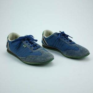 Coach Blue Green Niki Athletic Sneakers Leather